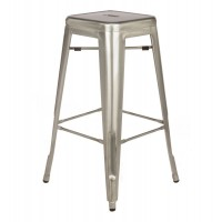 Tolix Style Metal Industrial Loft Cafe Bar Stool in Gun Metal