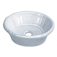 Porcelain Ceramic Vanity Drop In Bathroom Vessel Sink - 17-3/4 x 14-3/8 x 7 Inch