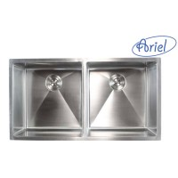 37 Inch Stainless Steel 15mm Radius Design 50/50 Undermount Double Bowl Kitchen Sink