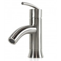 Lead Free Brushed Nickel Bathroom Lavatory Vessel Sink Faucet with Free Overflow Pop Up Drain