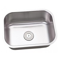 23 Inch Stainless Steel Undermount Single Bowl Kitchen / Bar Sink - 18 Gauge