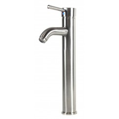 European Style Bathroom Lavatory Brushed Nickel Vessel Sink Faucet