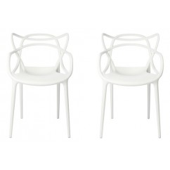 2 X Midcentury Modern Masters Dining Chair In White