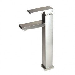 Lead Free Faucet  Brushed Nickel Bathroom Lavatory Vessel Sink Faucet - 12 x 9 Inch