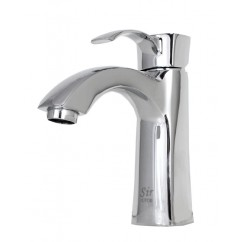 Lead Free Chrome Bathroom Lavatory Vessel Sink Faucet - 6-1/2 x 3-1/4 Inch