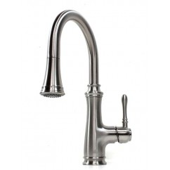 Allora Bishop Style Lead Free Brushed Nickel Kitchen Faucet