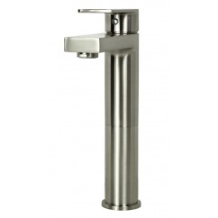 Adrian Brushed Nickel Bathroom Vessel Sink Single Hole Faucet