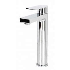 Adrian Polished Chrome Bathroom Vessel Sinke Single Hole Faucet