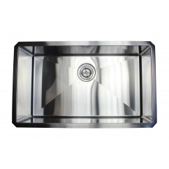 30 Inch 16 Gauge Undermount Single Bowl Stainless Steel Sink 15mm Radius Design Premium Combo Package
