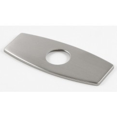 """6-1/4""""  2-5/8"""" Bathroom Single Hole Sink Faucet Cover Deck Plate Escutcheon with Square Corners - Brushed Nickle"""