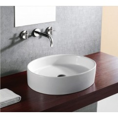 22 Inch European Style Oval Shape Porcelain Ceramic Bathroom Vessel Sink