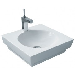 19-15/16 Inch Porcelain Ceramic Single Hole Countertop Bathroom Vessel Sink