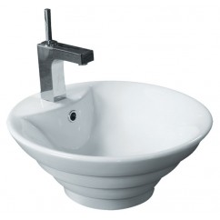 18-11/16 Inch Porcelain Ceramic Single Hole Countertop Bathroom Vessel Sink