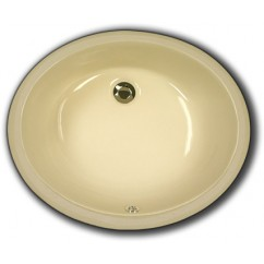 17 Inch Biscuit Porcelain Ceramic Vanity Undermount Bathroom Vessel Sink