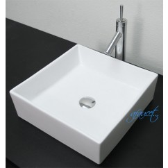 17 Inch European Style Porcelain Ceramic Countertop Bathroom Vessel Sink