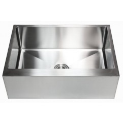 30 Inch Stainless Steel Flat Front Farm Apron Single Bowl Kitchen Sink