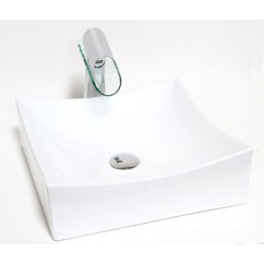 15 -1/2 Inch European Style Porcelain Ceramic Countertop Bathroom Vessel Sink