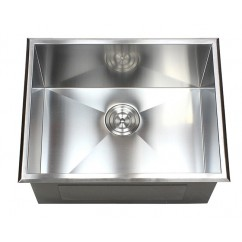 23 Inch Drop-In Stainless Steel Single Bowl Kitchen / Utility / Laundry Sink Zero Radius Design