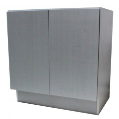 30 Inch European Design Bathroom Vanity Double Door Cabinet Base Gray Textured Finish