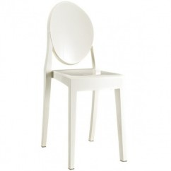 Victoria Style White Color Ghost Dining Chair