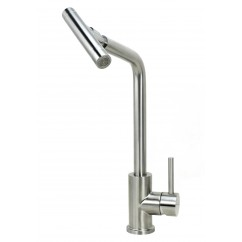 Ariel Crane Stainless Steel Lead Free Single Handle Swivel Nozzle Sprayer Kitchen Faucet