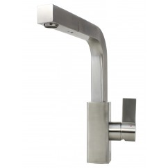 Ariel Carmela Stainless Steel Lead Free Single Handle Pull Out Nozzle Sprayer Kitchen Faucet