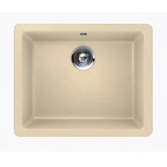 Beige Quartz Composite Single Bowl Undermount / Drop In Kitchen Sink - 21-5/8 x 16-15/16 x 8 Inch