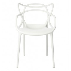 Midcentury Modern Masters Dining Chair In White