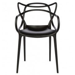 Midcentury Modern Masters Dining Chair In Black