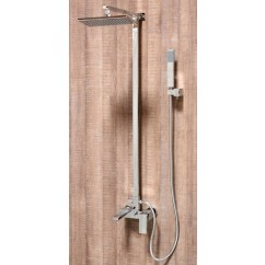 Ariel Contemporary Exposed Shower Faucet Set with Tub Filler and Hand Shower