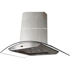 XtremeAIR 42 Inch Island Mount Curved Glass Stainless Steel Range Hood 900 CFM Pro-X Series PX01-I42