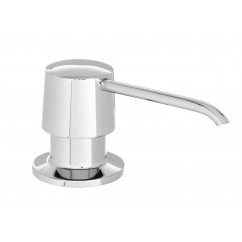 Round Shape All Metal Construction Deck / Countertop Mount Solid Brass Pump Hand / Dish Soap Dispenser Polish Chrome