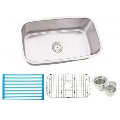30 Inch Stainless Steel Undermount Single Bowl Kitchen Sink - 16 Gauge FREE ACCESSORIES