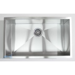 30 Inch Stainless Steel Undermount Single Bowl Kitchen Sink Zero Radius Design