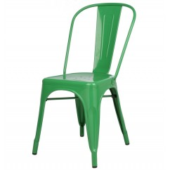 Tolix Style Metal Industrial Loft Designer Cafe Chair in Green