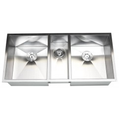 42 Inch Stainless Steel Undermount Zero Radius Triple Bowl Kitchen Sink