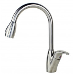 Ariel Tulip Lead Free Stainless Steel Pull Out Sprayer Kitchen Faucet