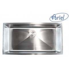 36 Inch Stainless Steel Undermount Single Bowl Kitchen Sink  15mm Radius Design