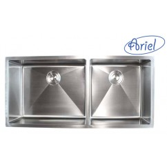 42 Inch Stainless Steel 15mm Radius Design Undermount Double Bowl Kitchen Sink