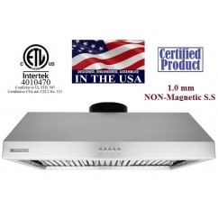 XtremeAIR 42 Inch Under Cabinet Stainless Steel Range Hood UL11-U42