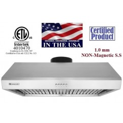 XtremeAIR 42 Inch Under Cabinet Stainless Steel Range Hood UL13-U42
