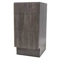 15 Inch European Design Bathroom Vanity 3-Drawer Cabinet Base Country Oak Textured Finish