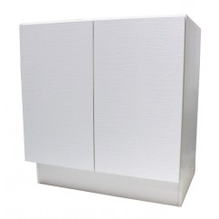 27 Inch European Design Bathroom Vanity Double Door Cabinet Base White Textured Finish