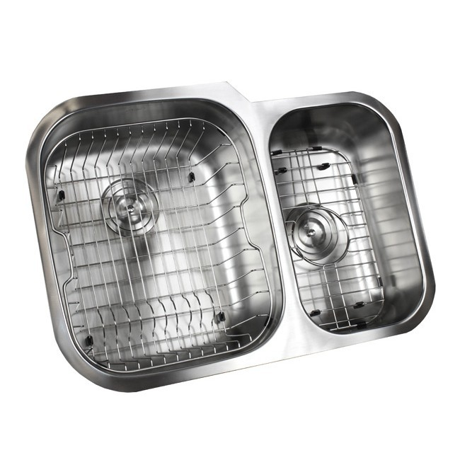 Ariel Pearl 29 Inch Stainless Steel Undermount Double Bowl