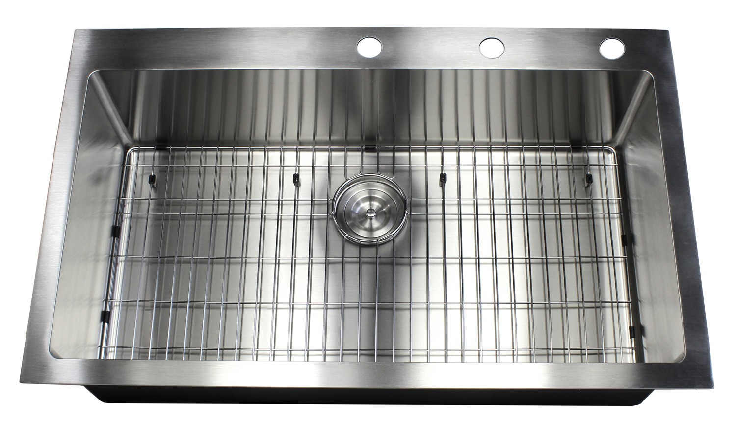 36 Inch Top-Mount / Drop-In Stainless Steel Single Bowl Kitchen Sink