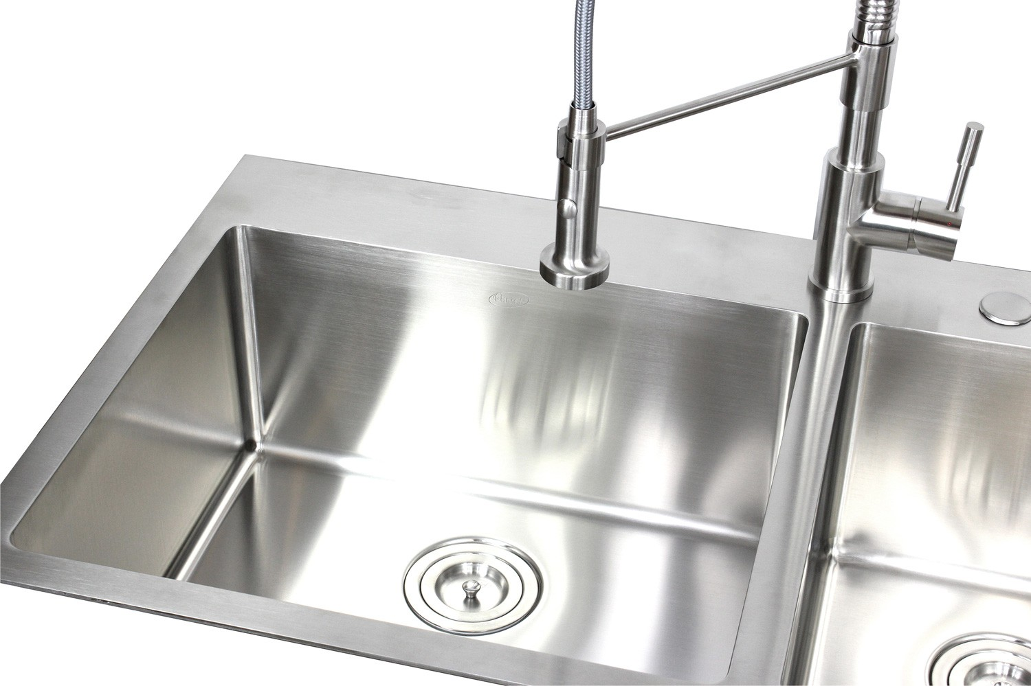 36 Inch Top-Mount / Drop-In Stainless Steel 60/40 Double Bowl ...