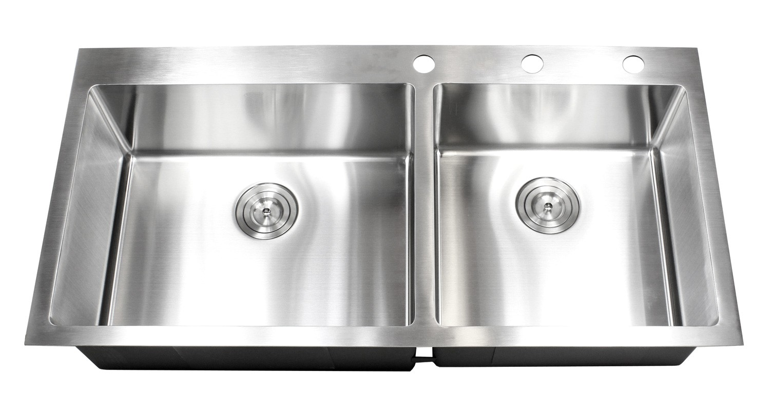 43 Inch Drop In Stainless Steel Double Bowl Stainless Steel Kitchen ...
