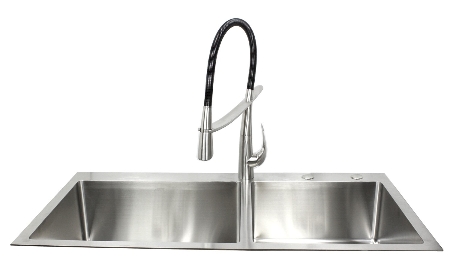 more views 43 inch drop in stainless steel double bowl stainless steel      rh   cbath com