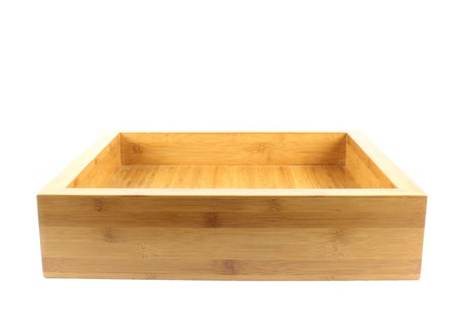 ... - Bamboo Countertop Bathroom Lavatory Vessel Sink - 17 x 19 Inch
