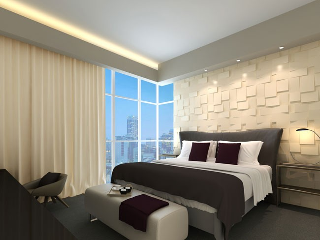 Glue On Wall Panels : Cubes design d glue on wall panel